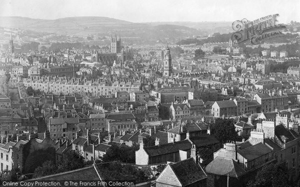 Bath, From Beechen Cliff  1896