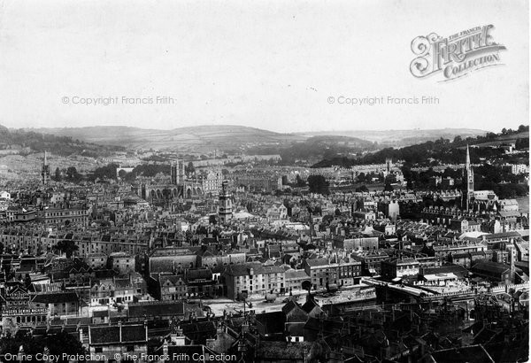 Bath, From Beechen Cliff 1902