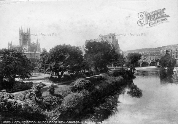 Bath, From North Parade Bridge 1902