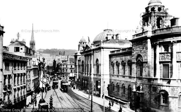 Bath, High Street And Municipal Building 1904