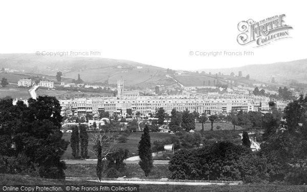 Bath, Lark Hall And Grosvenor Place c.1873