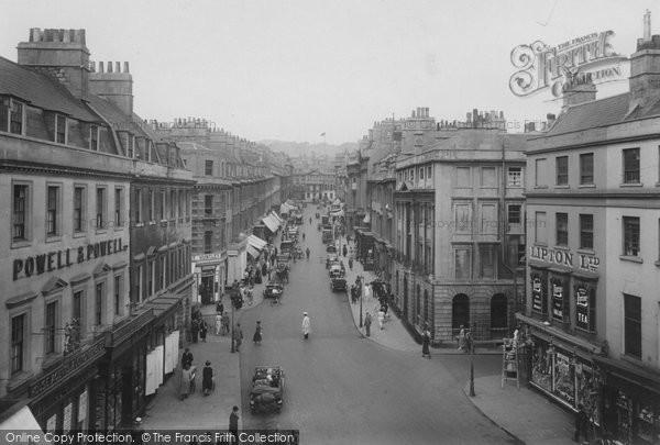 Bath, Milsom Street 1923