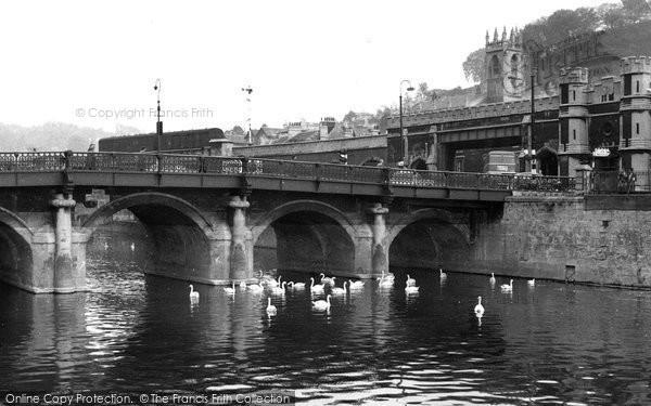 Bath, Old Bridge c.1960