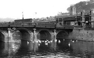 Bath, Old Bridge c.1960