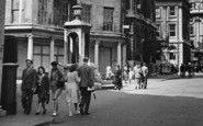 Bath, Pedestrians Outside The Royal Bath Hotel c.1950