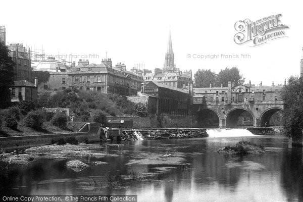 Bath, Pulteney Bridge 1895