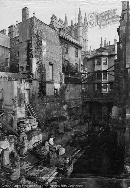 Bath, Roman Baths c.1884