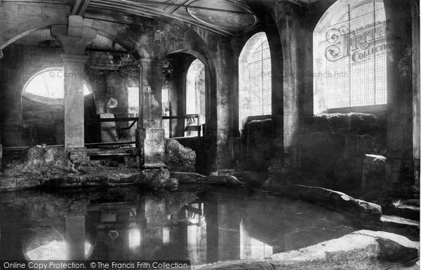 Bath, Roman Baths, Circular Baths 1896