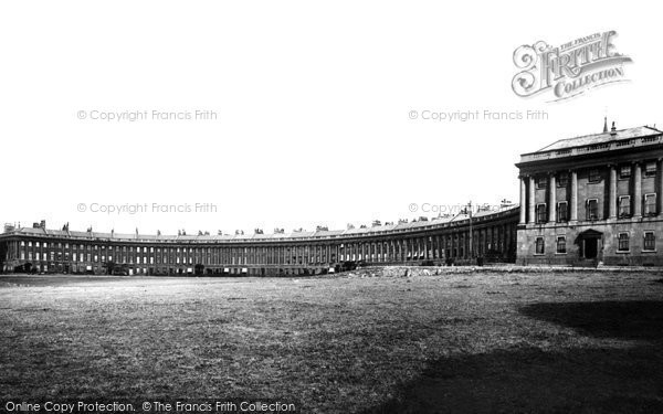 Bath, Royal Crescent 1896