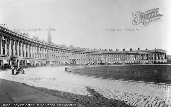 Bath, Royal Crescent c.1880