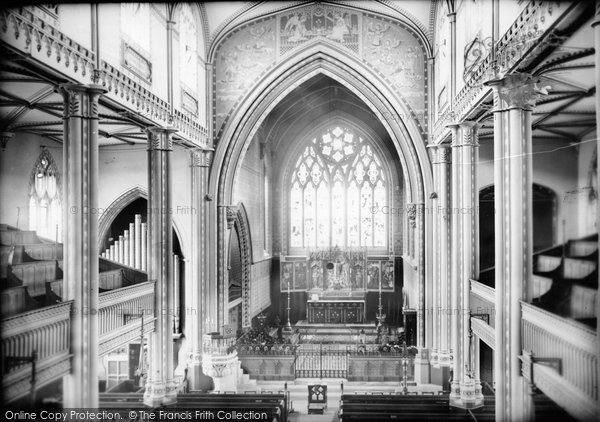 Bath, St Mary's Church Interior, Bathwick 1887