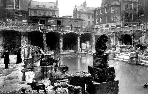 Bath, The Roman Baths 1890
