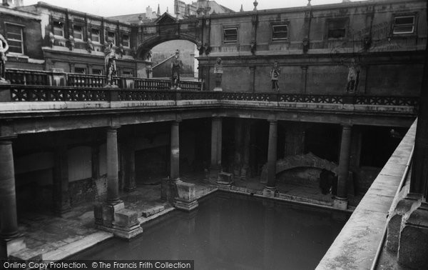 Bath, The Roman Baths c.1960