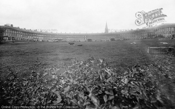 Bath, The Royal Crescent 1925