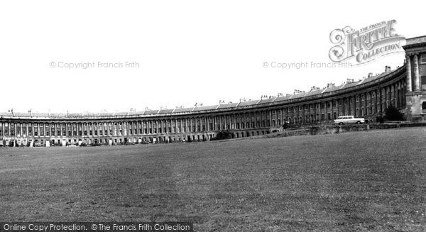 Bath, The Royal Crescent c.1960