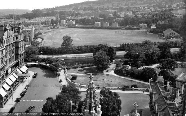 Bath, View From Abbey 1929