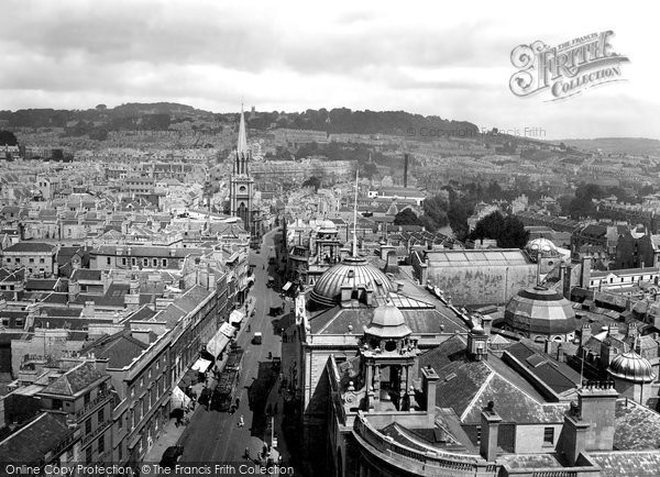 Bath, View From The Abbey 1929