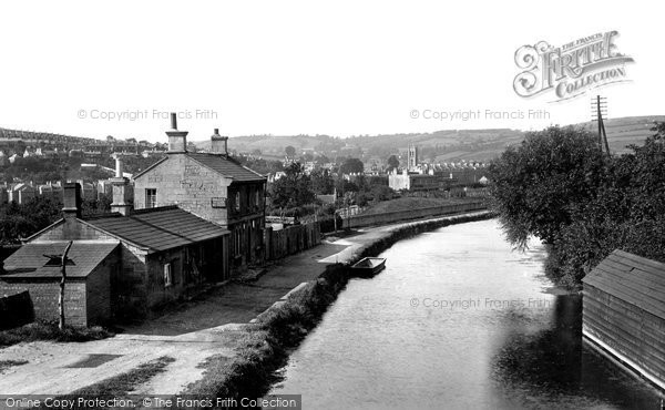 Bath, View From Warminster Road Bridge 1914