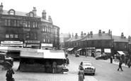 Batley, Market Place And Commercial Street c.1955