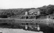 Batley, The Cafe And Lake, Wilton Park c.1955