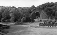 Batley, The Tunnel And Gardens, Wilton Park c.1955