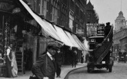 Battersea, A Boy And A Bus, St John's Road c.1913