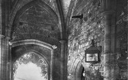 Battle, Abbey Gateway Showing Old Hanging Post 1910