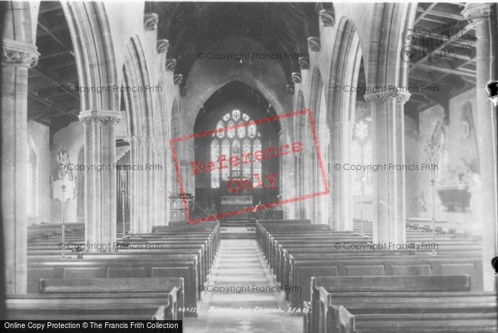 Beaminster, Church Interior 1902