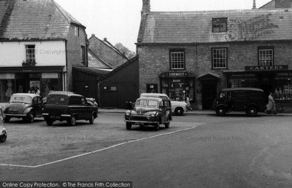 Beaminster, The Square Car Park c.1955