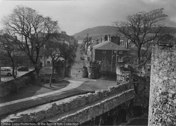 Beaumaris, Castle Street From The Castle Wall c.1955