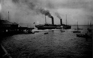 Beaumaris, The Pier And Ss Marguerite 1911
