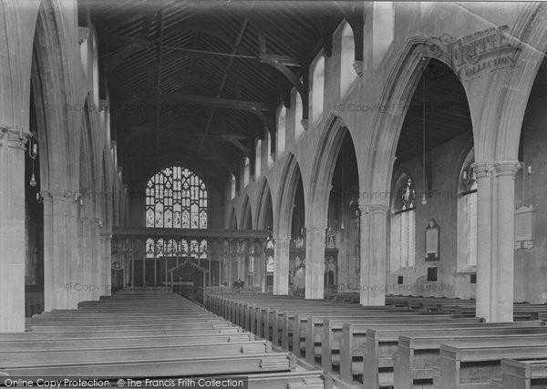 Beccles, Church Interior 1923
