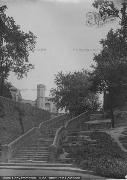Photo of Beccles, Church Steps 1923