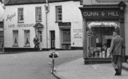 Beccles, Gunn & Hill Ironmongers And Page's Café Restaurant c.1960