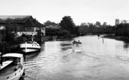 Beccles, The River From The Bridge c.1955