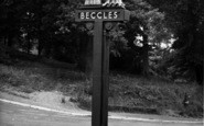 Beccles, Town Sign c.1960