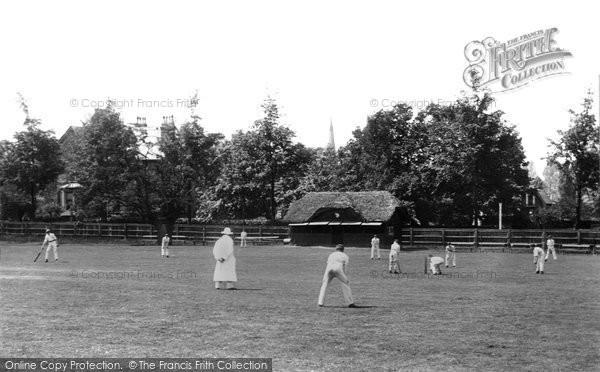 Beckenham, Abbey School, Cricket Match 1899
