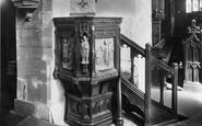 Bedale, Church Pulpit 1908
