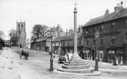Bedale, Market Cross 1908