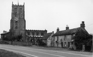 Bedale, St Gregory's Church And Chantry House c.1955