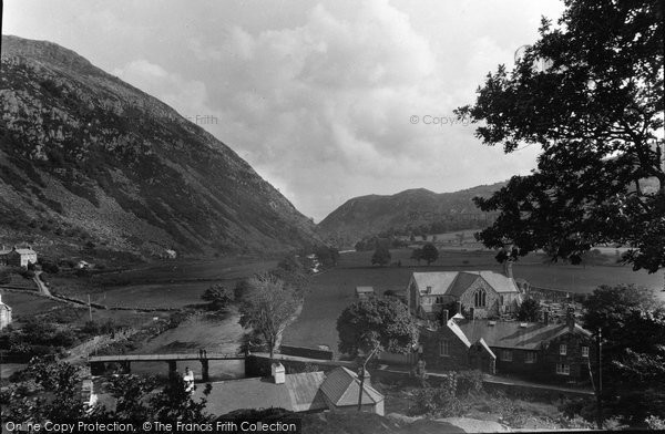 Beddgelert, Distant View Of The Pass c.1950