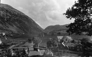 Beddgelert, Distant View Of The Pass c.1950
