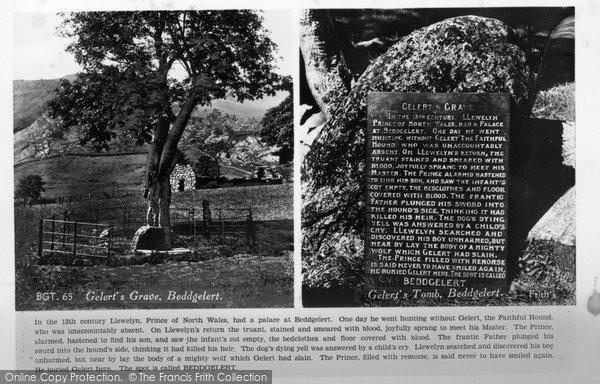 Beddgelert, Gelert's Grave Postcard c.1950