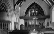 Beddgelert, St Mary's Church Interior 1931