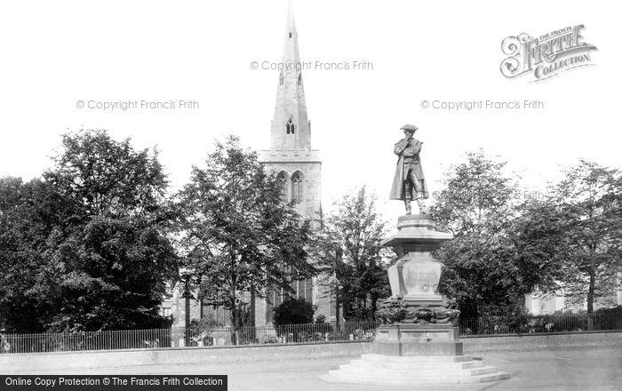 Bedford, John Howard Statue And St Paul's Church 1897