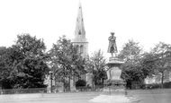 Bedford, John Howard Statue And St Paul's Church 1897