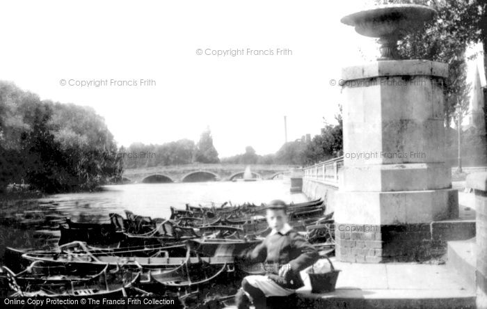 Bedford, Stone Bridge From Boat Station 1897
