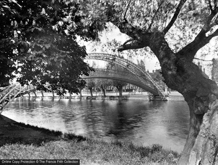Bedford, The Suspension Bridge 1929