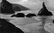 Bedruthan Steps, Queen Bess Rock 1887