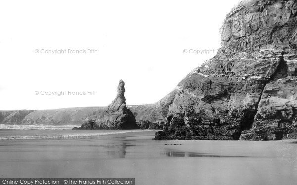 Bedruthan Steps, The Shore And Queen Elizabeth Rock c.1955